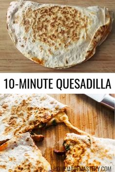 This is a healthy and easy quesadilla recipe that tastes like pizza and is great for a quick dinner or lunch! Quick Lunch Recipes, Vegetarian Recipes Videos, Healthy Recipe Videos, Easy Healthy Recipes, Quick Easy Meals, Mexican Food Recipes, Breakfast Recipes, Cooking Recipes, Quick Dinner Meals