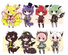 They're just 6$ -- Forest Fox: SOLDKayzieRaichu Kodona Kitty: Owneryessi-neko-chan Red Vampire: SOLDKayzieRaichu Little Incubus: SOLDShamboro Wolf P:...