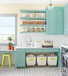 Must See Laundry Room Storage Ideas (+ Free Labels!)