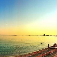 Sunset in Le Dune beach...
