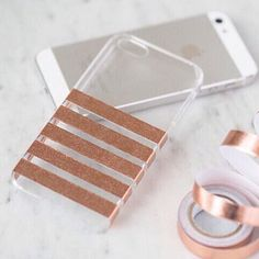 I so desperately need a case..clear case with a strips of washi tape!