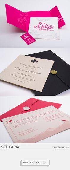 www.serifaria.com [SERIFARIA | graphic design studio] Convites desenvolvidos pela Serifaria e impressos em letterpress e serigrafia pela Letterpress Brasil.