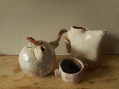 Grès, glaze, wooden handle