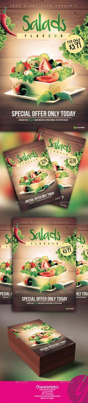 Salads Flavour Flyer - Restaurant Flyers