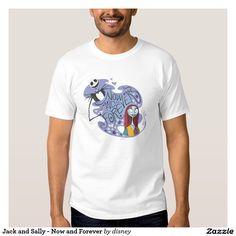 Jack Skellington y Sally - ahora y para siempre Playeras. Producto disponible en tienda Zazzle. Vestuario, moda. Product available in Zazzle store. Fashion wardrobe. Regalos, Gifts. #camiseta #tshirt