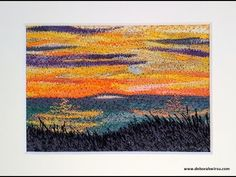 Thread Sketching in Action No 65 - Southern Sunset - YouTube