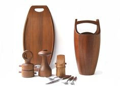DANSK JHQ vintage teak collections. Designed by Jens H. Quistgaard.