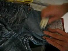 How to make ur own cut off shorts from your old jeans! - YouTube