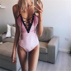 Sexy Front Lace Up Bodysuit Autumn V Neck Sleeveless Rompers Women Overalls Bodycon Bodysuit 2017 Body Suit Outfits, Girl Outfits, Front Lace, Lace Up, Overalls Women, Bodysuit Fashion, White Bodysuit, Rompers Women, Teen Fashion