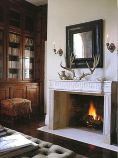 All it needs is a bearskin rug near that fireplace and I will have make some Daytime-Drama love right then and there.