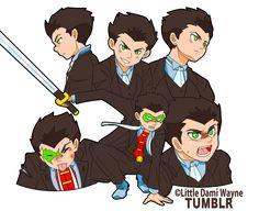 Little Dami Wayne Son Of Batman, Batman Robin, Superman, Tim Drake, Damian Wayne, Robins, Aquaman, Supergirl, Al Ghul