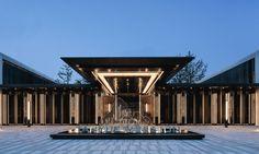 Architecture Courtyard, Asian Architecture, Amazing Architecture, Corridor Design, Entrance Design, Gate Design, Landscape Walls, Landscape Design, Modern Hospital
