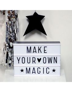 Create your own unique messages with our Cinema Light Box. Recreate the golden age of cinema in your own home. Lightbox Letters, Diy Letters, Lightbox Quotes, Plastic Letters, Citations Lightbox, Ramadan Decoration, A Little Lovely Company, Licht Box, Deco Kids