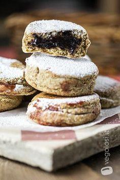 Focaccine integrali dolci in padella con cioccolata o marmellata