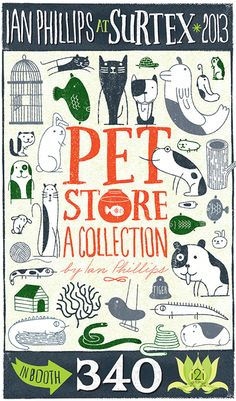 Popular Pet Shop Collection ©Ian Phillips featured on Print and Pattern blog:  http://printpattern.blogspot.ca/2013/05/surtex-2013-ian-phillips.html