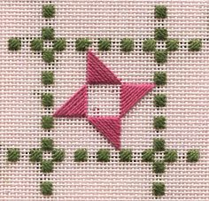 Mini-mystery project - in process. This blog has a lot of fun projects, and the blogger is a needlework designer.