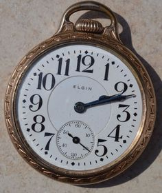 1912 Elgin Railroad Grade 391 16S 21J OF Gold Filled Pocket Watch-Running #Elgin