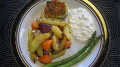 Actifry kartofler med gulerødder og løg