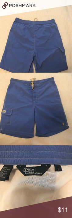 Men's Polo Swim Trunks Perfect for that late fall trip!  Check these out! Men's Polo size Large Swim Trunks!   Don't let these slip by! Polo by Ralph Lauren Swim Swim Trunks
