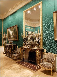 The Wallace Collection's Large Drawing Room, with boulle furnishings set off by lush wall coverings. The museum's revitalization emphasizes the intimacy of the house and its astonishing range of paintings, armor, porcelain and French furniture collected by five generations of Wallaces.    Photo: Courtesy of Trustees of The Wallace Collection, London