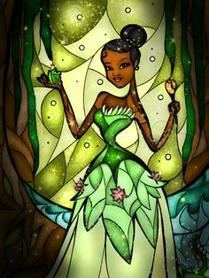 Princess and the Frog Stained Glass, by Mandie Michel