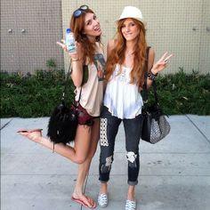 .@Dani_Thorne & @Bella Thorne Sister Day ❤