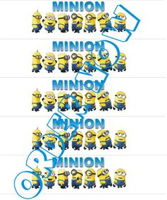 Water Bottle labels are a fun way to get your kids to drink water. Just print them and place over water bottle label and secure with a little tape. The kids will love them. Minion Water bottle label DIY Printable pdf by Aluminumguy on Etsy, $2.50