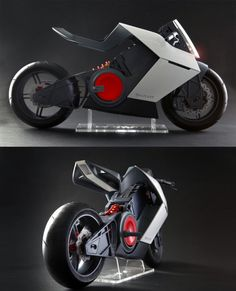 Besides looking just plain sexy, the Shavit electric sport motorcycle features a very unique riding position system that makes shifting from everyday upright stance to racetrack oriented lean as easy as the push of a button. Futuristic Motorcycle, Futuristic Cars, Motorcycle Bike, Motorcycle Lights, Concept Motorcycles, Cool Motorcycles, E Mobility, Motorbike Design, Ex Machina