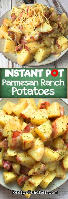 This recipe for Ranch Potatoes with Parmesan from an Instant Pot is easy to make. They will surely be your favorite Potatoes with Parmesan. Instant Pot Parmesan Ranch Potatoes - Instant Pot Potatoes Easy for the family! Crock Pot Recipes, Slow Cooker Recipes, Chicken Recipes, Pressure Cooker Recipes Vegetarian, Instapot Vegetarian Recipes, Instapot Recipes Chicken, Potato Recipes Crockpot, Hotdish Recipes, Coffe Recipes