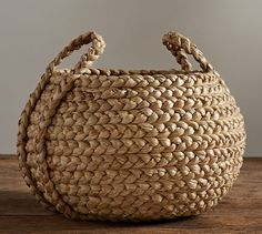 Beachcomber Round Handled Baskets Pottery Barn - Our Beachcomber Baskets Are Handwoven From Sustainable Natural Fibers That Are Richly Textured And Bring A Casual Easy Style To Home Organization Ideal For Stowing Pillows Media Components Towels Basket Organization, Storage Baskets, Makeup Organization, Towel Storage, Closet Organization, Kitchen Storage, Basket Weaving, Hand Weaving, Jute Crafts