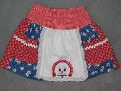 Raggedy Ann skirt for little girls size 3. $28.00, via Etsy.