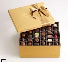 Godiva Chocolatier Gold Ballotin, Classic Gold Ribbon, Great for Gifts, Gourmet Chocolate Gift Box, 36 Count Chocolate Basket, Chocolate Gold, Chocolate Gift Boxes, I Love Chocolate, Chocolate Truffles, Chocolate Lovers, Chocolate Candies, Chocolate Packaging, Decadent Chocolate