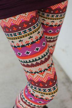 Aztec Red/Pink Leggings