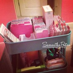 Idea how to organize my Arc supplies. (Project Life Organization by thescrapmaster.com)
