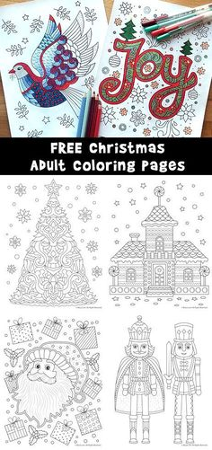 Christmas Adult Coloring Pages Free To Print