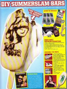 DIY WWF/WWE Superstar Ice Cream Bars