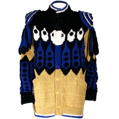 Kansai Yamamoto's Super Hero Sweater | From a collection of rare vintage sweaters at https://www.1stdibs.com/fashion/clothing/sweaters/