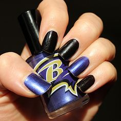 Baltimore Ravens NFL Nail Polish