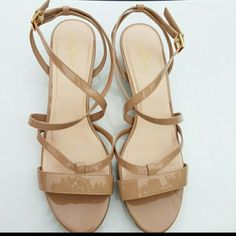 b26db27037e3ce Nude Cole Haan patent leather sandals Excellent condition with 2 very  slight blemishes (see photos