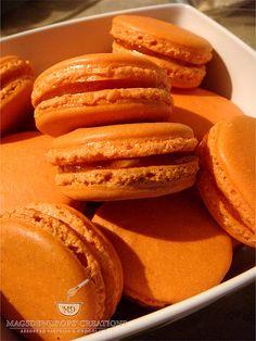 Orange Jam Macarons