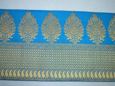 Turquoise sari border brocade jacquard ribbon decorative christmas supplies home decor border crafting sewing machine stitched trim by 2 yard embellishments for clutches and purses Brocade floral trimmings for garments Sewing Lace, Hand Sewing, Diy Belts, Lace Border, Rock, Band, Wedding Wear, Decor Crafts, Handicraft