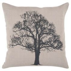 Vintage Tree Toss Pillow - 18x18