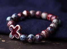 Handmade Ceramics Beaded Bracelet via lance's Ceramics House. Click on the image to see more!
