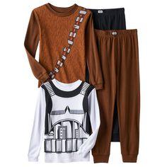 Boys 4-10 Star Wars Chewbacca & Stormtrooper 4-piece Pajama Set, Multicolor