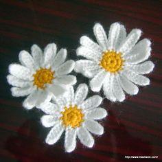 Daisy applique - free crochet pattern