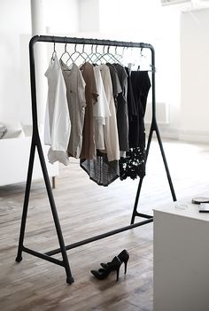 Budget tip: Clothing rack from IKEA! Read more at Swedish interior blog www.trendenser.se