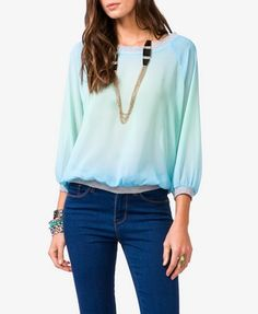 Ombré Chiffon Pullover | FOREVER 21 - 2044975161