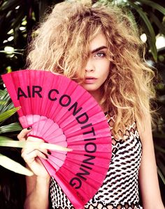 Cara gets air-conditioned.