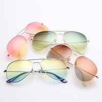 Novo 3025 colorido de óculos de sol homens moda aviador óculos de sol  mulheres grife men f57ac8cefd