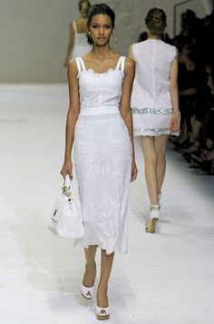 Lovely cool summery white cotton dresses.